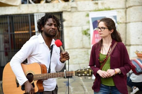 Anna Zanellato e John Mpaliza a Vicenza per la pace
